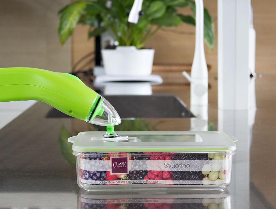 macchina per conservare sottovuoto alimenti con svuotino