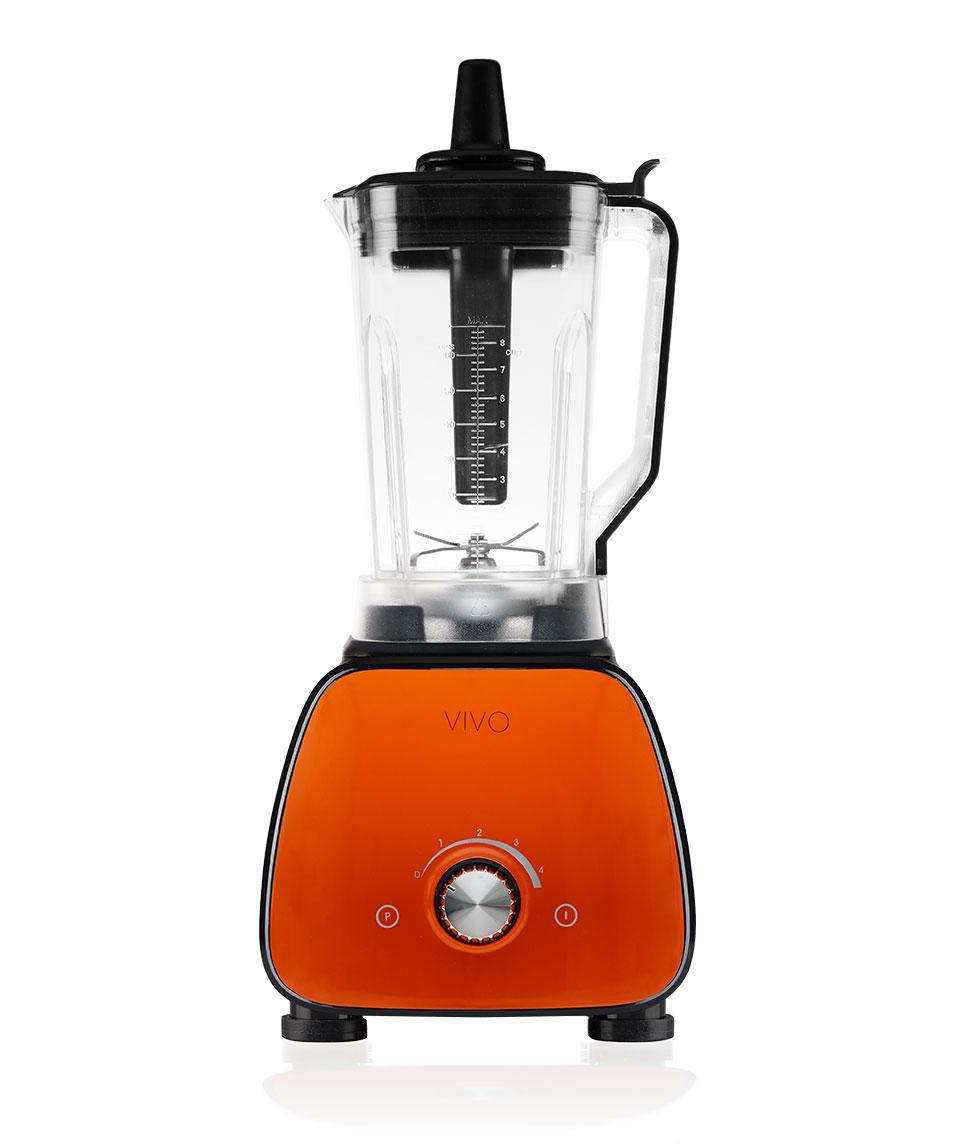Frullatore professionale alta velocità Nero e Arancio
